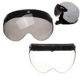 2fb53d2d Wholesale- Universal Front Flip Up Visor Wind Shield Lens For Open Face  Motorcycle Helmets on sale