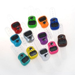 Wholesale Digital Tasbeeh Tally - 100pcs Mini Hand Hold Band Tally Counter LCD Digital Screen Finger Ring Electronic Head Count Tasbeeh Tasbih