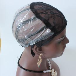 tappo di trama Sconti DHL veloce di trasporto 20pcs Cap parrucca per fare parrucche regolabile cinghia macchina fatta tessitura Cap Fondamento all'interno estensione dei capelli interni trama tessuto