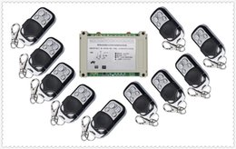 Wholesale 4ch Rf Remote Control - Wholesale- 220V 380V 4CH 30A RF Wireless Remote Control System Radio Switch remote switch 220V 380V Learning code receiver 10* transmitter