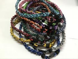 Wholesale Ge Titanium Necklaces - Promotion - 350PCS Lot Mix 12 designs Baseball Sports Titanium 3 Rope Braided GE Necklace RT097