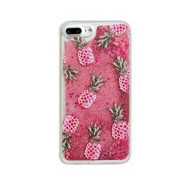 Wholesale Iphone Sand Cases - StarFall Flowing Liquid Sand Soft TPU Protective Case Pineapple Cover For iPhone 6 6s 6Plus 7 7Plus