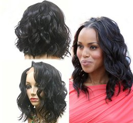 Wholesale Malaysian Virgin Hair Wavy Wigs - New 8A short bob lace front human hair wigs with baby hair glueless full lace wig wavy brazilian virgin hair wig for black women