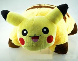 Wholesale Pillow Balls - Poke Go Game Ball Plush Doll Toys Decorative Pillow Bolster Stuffed Animals Toy Cushions Gift Hot Sale EMS Free Shipping