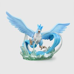 Wholesale Gift Box 18cm - Free Shipping Anime Pokémon Go Pocket Monster Articuno 18CM PVC Action Figure Toys Gift New In Box