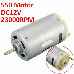 Wholesale 12v High Speed Electric Motors - High torque DC 12V 23000RPM Motor High Speed Large Power 550 Motor For DIY Electric Tools