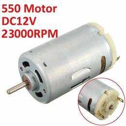 Torque 12v on-line-Alto torque DC 12 V 23000 RPM Motor de Alta Velocidade Grande Potência 550 Motor Para DIY Ferramentas Elétricas
