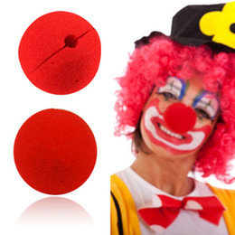 Wholesale Magic Sponges - 100Pcs lot Decoration Sponge Ball Red Clown Magic Nose for Halloween Masquerade Decoration Free Shipping