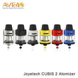 2019 joyetech cubis Autêntico Joyetech CUBIS 2 Tanque 2 ml 3.5ml Atomizador fit 3000mAh Joyetech CuBox Box MOD Controle de Fluxo de Ar joyetech cubis barato