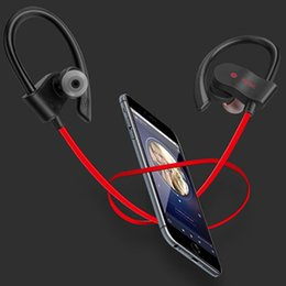 Wholesale pink blackberry cases - A+ Quality Power 3.0 Wireless Headset Ear Hook Bluetooth Sport Earphone Mic calling With Carrying Case Headphone With Brand Retail Box