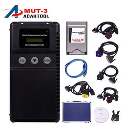 Wholesale Top Rated Car Diagnostic Tool - Wholesale- Top-Rated Multi-language MUT-3 Support ECU Programmer Mitsubishi MUT3 MUT 3 Car and Truck Diagnostic Tool DHL Free Shipping