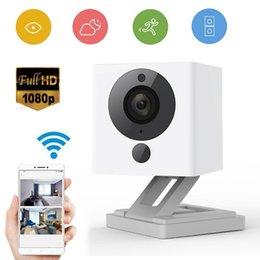 Wholesale Ip Camera Zooms - 32GB Original Xiaomi XiaoFang 110 Degrees F2.0 8X Digital Zoom 1080P Night Vision WiFi IP Smart Network Surveillance Camera Mini Camera