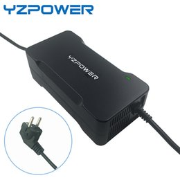 Wholesale 36v li ion battery charger - YZPOWER Top Quality 42V 5A Lithium Li-ion Battery Charger For 36V EBike Power Tool Battery Pack Cooling with fan inside