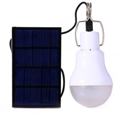 Wholesale Solar Charge Garden Lights - New Arrival S-1200 15W 130LM Portable Led Bulb Garden Solar Powered Light Charged Solar Energy Lamp High Quality Free Shipping