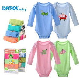 Wholesale High Quality Baby Clothes Wholesale - 5 pieces lot 3-24M DANROL high quality full sleeve rompers baby boy girl soft clothing DR0015