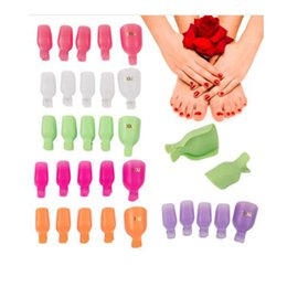 Wholesale Tools For Feet - 5pcs pack Nail Art Soak Caps Clips for Foot Toes Nail Art Pedicure Remover Tools Plastic High Quality