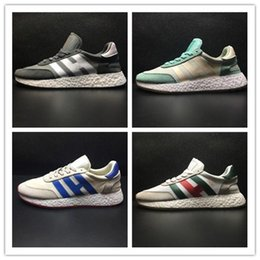 Wholesale Womens Pink Tennis Shoes - Original Iniki Runner Boost Neighborhood X Outdoor Casual Running Shoes Grey-Core Blue Triple Black Green Red Sneakers Mens Womens Shoes