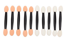 Wholesale Disposable Eyeshadow Brushes - Double-ended Sponge Eye Shadow Applicator Tool Disposable Eyeshadow Applicator Brush Cosmetic Tool For Women Lady