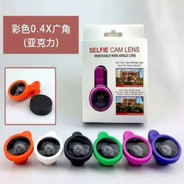 Wholesale Detachable Wide Angle Lens - 2017 New MIni Portable Phone Camera Lens 0.4x PC Wide Angle Lens Universal  Detachable Clip for iPhone etc Cell Phones