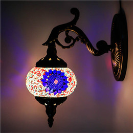 Wholesale Nostalgic Bulbs - LED light bulbs romantic home furnishings TV wall bedroom cafe club KTV retro nostalgic decorative wall lamp