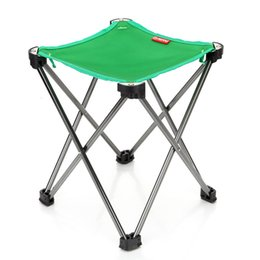 Wholesale Beach Camping Folding Chair - New Design Portable Folding Chair Square Camping Stool Chair Seat for Outdoor Camping Picnic Beach Chair 3 Colors MA0398