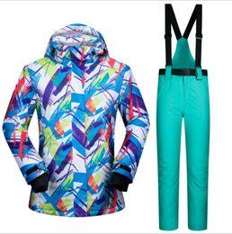 Wholesale Nylon Pants Hiking - 2016 Women Ski Jacket+Pants Snowboard Warm Clothing Windproof Waterproof Ski Suit Hiking Camping Outdoor Sport Wear Suit Set New
