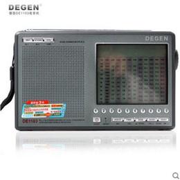 Wholesale Mini External Speaker - Wholesale-Degen DE1103 Radio DSP FM SW MW LW SSB Digital World Receiver & External Antenna Portable Mini FM AM Radio With Earphone