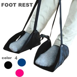 Wholesale Wholesale Travel Chairs - Travel Footrest Foot hammock Portable Office Desk Rocking chair Airplane Train Long Journey For Feet Foot Rest Stand Hangmat 43x21.5cm
