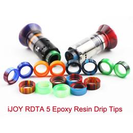 Wholesale Individual Gifts - 2017 iJOY RDTA5 Epoxy Resin Drip Tips for IJOY RDTA 5 Tank Atomizer Individual GIFT Package vape ecigs accessories
