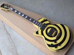 Wholesale G Custom High Quality - Free shipping High-quality !l Wholesale - G Zakk Wyld Custom left hand electric guitar black Yellow