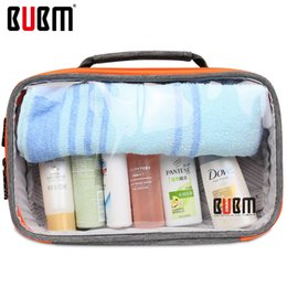 Wholesale Item Received - Wholesale- BUBM transparent digital receiving bag Cable Organizer toiletries house items Travel Case digital makeup storage sorting bag