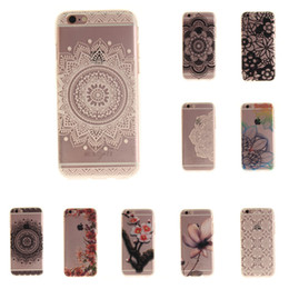 Wholesale Silicon Flowers - For iphone 7 Case Art Print Silicon For iphone 6 Coque Soft Aztec Flowers Bohemia Back Cover Phone ipone6 Fundas Etui Accessorie
