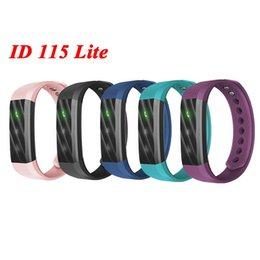Wholesale Cheap Kids Bracelets - Cheap ID115 Lite Smart Bracelet Fitness Tracker Tracking Step Counter Activity Monitor Band Alarm Clock ID115Lite Smart Wristband