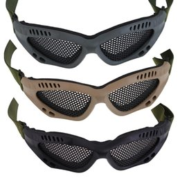 Wholesale Airsoft Mesh - Outdoor Sports Hunting Skiing Snowboard Metal Mesh Glasses Airsoft Net Tactical Shock Resistance Eyes Protecting Ski Goggles