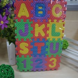 Wholesale Eva Alphabet Puzzle Mats - Wholesale- Colorful 36pcs Mini Puzzle Kid Educational Toy Alphabet Letters Numeral Foam Mat New