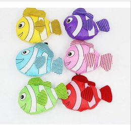 Wholesale Fishing Shopping - Wholesale- Fashion Shopping Bags 7 Colors Tropical Fish Foldable Eco Reusable Shopping Bags 38cm x58cm in stock