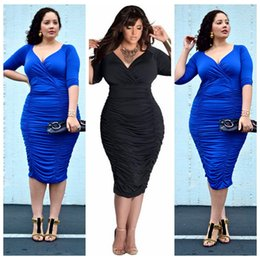 Wholesale Fund Pink - New fund sell like hot cakes the European and American big yards dress fat woman loose elastic sexy dress