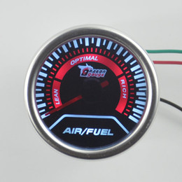 Wholesale White Car Modification - Wholesale- New 2 inchSunglasses surface white backlight car Air-fuel ratio Gauge Car modification Gauge Free shipping