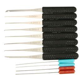 Wholesale Key Extractor Tool - New Arrival 1 Set 12 PCS Lock Broken Key Extractor Removal Hooks Needle Locksmith Tool Set Top Quality