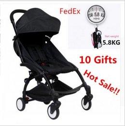 Wholesale Originals Umbrellas - Original baby stroller In Stock Folding Baby Stroller Umbrella Trolley Stroller Minnie Black Pram free gifts travel baby