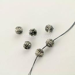 Nouvelle perle lâche ~ 8mm pavé de cristal strass forme ronde Spacer Perles Fabrication de bijoux ? partir de fabricateur