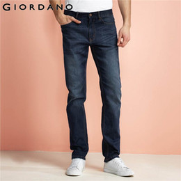 Wholesale Indigo Purple - Wholesale- Giordano Men Jeans Multi Pocket Pants Stretch Denim Jeans Mid-low Rise Trousers Fading Indigo Pants Jeans Men 2017 Brand Clothin