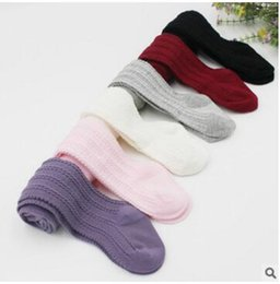 Wholesale Wholesale Knit Pantyhose - Kids Dance Socks Knee High Socks Princess Stocking Girls Knitted Pantyhose Toddler Cotton Longs Socks Fashion Leggings Baby Tights New K54