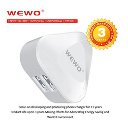 Wholesale Ipad Eu Plug - WEWO Dual USB Charger 2.1A Travel Wall Chargers UK Plug Fold Charging Adapter For Sony Xperia iphone ipad