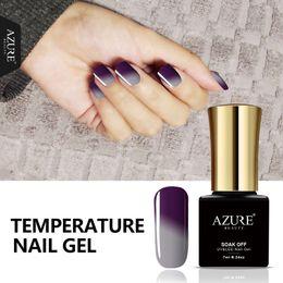 Wholesale Color Soak - Wholesale-Azure 7ML Newest Temperature Gel Polish Change Color UV Nail Gel Polish UV Led Soak Off Chameleon Thermal Gel Polish Pro Varnish