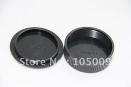 Wholesale screw lens camera - Wholesale-Rear Lens Cap   Cover+Camera Body Cap for leica M39 L39 39mm Screw Mount Black