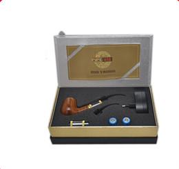 Wholesale 618 Electronic Smoking Pipe - E Pipe 618 E-cig Vaporizer Electronic Cigarette Full Kit Imitate Solid Wood Design Smoking Set Starter 18350 Battery