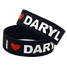 Wholesale Great Loves - 50PCS Lot I Love Daryl Dixon The Walking Dead Silicon Wristband, Great To Used In Any Benefits Gift For Music Fans