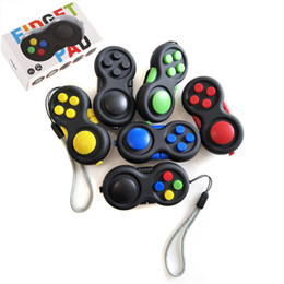 Wholesale Cube Controller - 2017 Fidget Pad 6 colors Fidget Cube Game Controllers handle anxiety Toys Wholesale with Retail Box