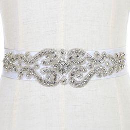 Wholesale Wedding Satin Sash Belt - Free Shipping Exquisite Heavy Beading Rhinestone Crystals Wedding Belt For Bridal Wedding Accessory Wedding Sashes CPA784